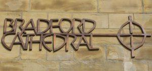 Bradford Cathedral bronze signage